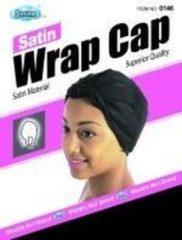 Zwarte Dream World Dream Satin Wrap Cap