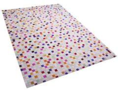 Beliani Advan Tapijt Meerkleurig Echt leer 160 x 230 cm
