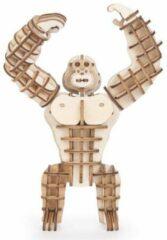 Bruine Kikkerland 3D puzzel van hout - In de vorm van een Gorilla