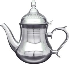 Zilveren Hakal Line Marokkaanse Arabische theepot rvs 1.5 L