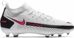 Witte Nike Phantom gt academy fg/mg kids white pink blast