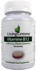 Groene Livinggreens Vitamine B12 methylcobalamine 1000 mcg 180 Tabletten