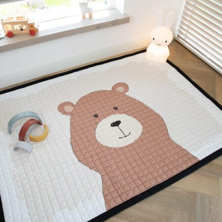 Afbeelding van Love by Lily .com Love by Lily - groot speelkleed - Bubbly Honey Bear - 200x150cm