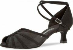 Zwarte Dansschoenen Dames Diamant 020-077-040 – Salsa, Latin, Social – Flare Hak 5 cm – Zwart – Maat 36,5
