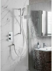 Crosswater Kai doucheset Dial drukknoppen inbouwkraan met glijstangset chroom DIAL-KAI-18