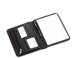 Schreibmappe Leder 24 cm Dermata schwarz