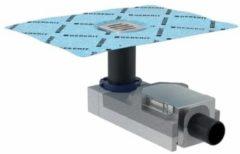 Geberit ruwbouwset vloerput 1 aansluiting inbouwhoogte 6,5-9cm. waterslang 5cm, rvs