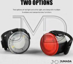 Rode Jumada's LED Fietsverlichting - USB oplaadbaar - 4 Instellingen - Waterbestendig - Fietslicht - Voorlicht - Achterlicht - Fietslampjes