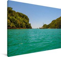 MuchoWow De wateren van het Nationaal park Abel Tasman in Nieuw-Zeeland Canvas 30x20 cm - klein - Foto print op Canvas schilderij (Wanddecoratie woonkamer / slaapkamer)