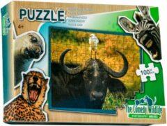 The comedy wildlife Comedy Wildlife Vogel poept op hoofd Buffel puzzel 100 stukjes