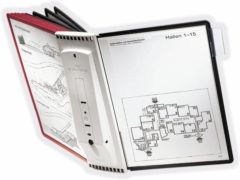 Durable Wandhouder voor bureaustandaard SHERPA WALL 10 - 5631 Rood, Zwart DIN A4 Aantal meegeleverde displaypanels 10