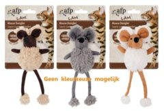 All For Paws Mouse Dangler - Kattenspeelgoed - 17x8x6 cm Assorti
