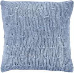 Blauwe Dutch Decor Sierkussen Erica 45x45 Cm Denim