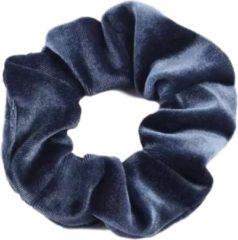 Kraagjeskopen.nl Scrunchie - 1 stuk - velvet - haarwokkel - haarelastiek - blauwgrijs - velvet scrunchies