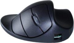 Zwarte R-Go Tools Hippus Handshoe - Ergonomische muis - Medium - Rechtshandig / Draadloos