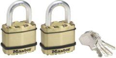 Gouden MasterLock 2x weersbestendige hangsloten Excell M1BEURT