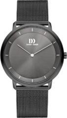 Grijze Danish Design watches edelstalen herenhorloge Anholt All Grey Large Mesh IQ66Q1258