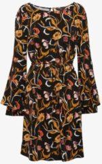 TOM TAILOR TOM TAILOR Damen Naomi Campbell: Kleid mit Taillengürtel, Damen, black, Größe: 36, schwarz, unifarben, Gr.36