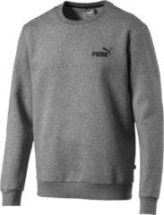 Grijze PUMA ESS Logo Crew Sweat FL Trui Heren - Medium Gray Heather