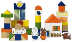 Bambolino Toys & Nijntje Nijntje Blokkenton met 50 houten blokjes