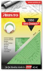 Geodriehoek Aristo 14 cm flexibel groen