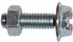 Zilveren Bofix Spatbordbout Verzinkt M5 X 16 Mm (210216) 50 Stuks