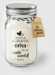 Witte Paper dreams Black & White geurkaars - Oma