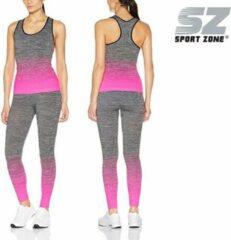 Roze Sportzone top met legging Neon Pink - dames - één maat 36-42