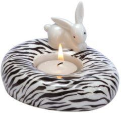 Zebra Bunny - Teelichthalter Bunny de luxe Goebel Bunt