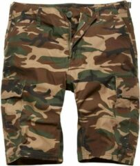 Vintage Industries BDU T/C shorts woodland camo