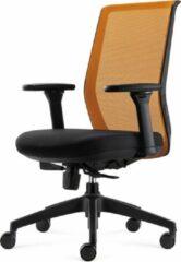 BenS 837-Ergo-4 - Oranje Ergonomische Bureaustoel met alle instel opties - Voldoet aan EN1335 & ARBO normen- Oranje/Zwart