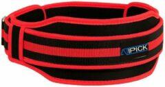 Atipick Gewichthefgordel 12 Cm Nylon Zwart/rood 110 Cm Maat L
