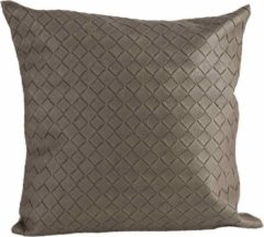 Cosy @ Home Kussen Leatherlook - Taupe - Polyester - 40x10x(H)40cm