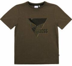 Kaki T-shirt Korte Mouw BOSS J25L02-64C-B