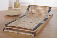 Mehrzonen - Federholzrahmen verstellbar mit 42 flexiblen Leisten 90 x 200 cm Frankenstolz Punktoflex Plus