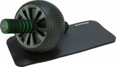 Groene Tunturi AB roller- Buikspiertrainer - Trainingswiel - met NBR kniemat