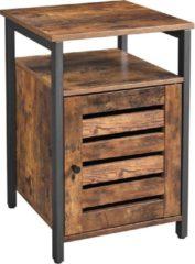 Bruine O'DADDY Nachtkastjes of bijzettafel met deur en planken - 40x40x60cm industrieel