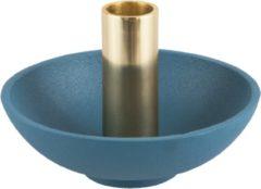 Blauwe Present Time (Pt,) Candle holder Nimble tub aluminium blue