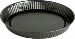 Antraciet-grijze Quid ronde bakvorm / cakevorm Ø 32 cm RVS antraciet