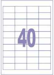 Witte Etiket Kangaro ILK 48,5x25,4mm doos a 100 vel 40 etiketten per vel K-4825