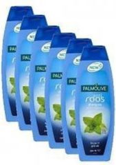6x 350 ml Palmolive Anti roos shampoo - met wilde munt extract