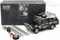 Blauwe Range Rover British Trans America Expedition 1971