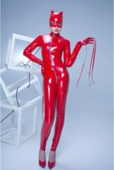 Rode Sweety Catsuit Lak Rood - Patrice Catanzaro Maat XXL (=XL)
