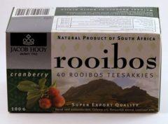 Jacob Hooy Rooibosthee cranberry 40 Stuks