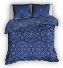 Satin D'or Satin d'Or Burletto dekbedovertrek - 1-persoons (140x200/220 cm + 1 sloop) - Katoen satijn - Blauw