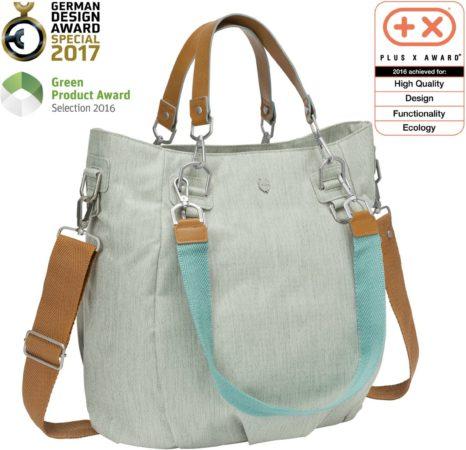 Afbeelding van Lässig luiertas met verzorgingsmatje, groen Label Mix'n Match Bag, Light Grey