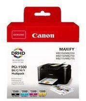 Canon PGI-1500 BK/C/M/Y Multipack - 4 - zwart, geel, cyaan, magenta - origineel - inkttank (9218B004)