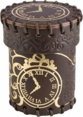 Gouden Q Workshop Dobbelbeker Steampunk Brown Golden Leather Dice Cup Q-Workshop