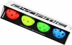 Rode Floorball Unihockey Dynamic Gatenballen Wedstrijd set 4 stuks