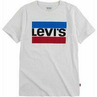 Gebroken-witte Levis! Jongens Shirt Korte Mouw - Maat 140 - Off White - Katoen
